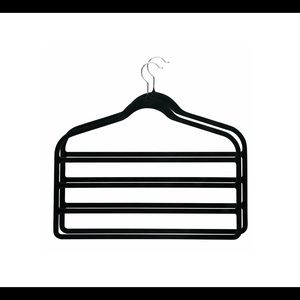 Other - Black velvet four tiered hangers